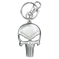 Punisher Logo Pewter Keychain