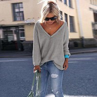 Trendy oversize baggy comfy knitted fashion sweater