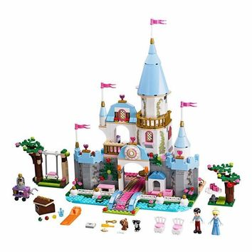 Building Block Cinderella Romantic Castle Princess Friend Blocks Bricks Girl Sets Toy Compatible With Legoe