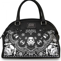 """STORM TROOPER"" BANDANA DUFFLE BY LOUNGEFLY (BLACK)"