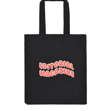 SOOP SOOP - Editorial Magazine Bubble Tote, Black