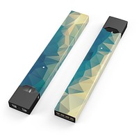 Skin Decal Kit for the Pax JUUL - Abstract Aqua and Gold Geometric Shapes
