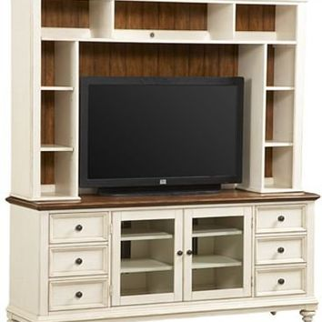 Entertainment/Media, Southport Entertainment Center - Distressed White, Entertainment/Media | Havertys Furniture