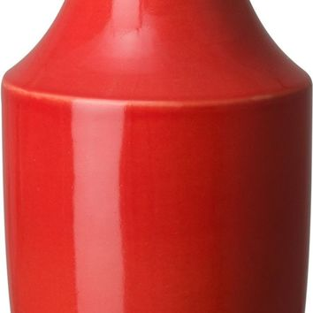 Bella Decanter Vase With A Coral Red Glaze