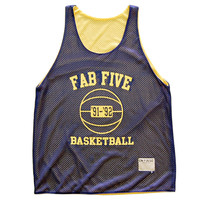 Michigan Fab Five Basketball Mesh Reversible