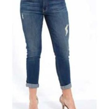 Distressed Boyfriend Jeans - Flying Monkey