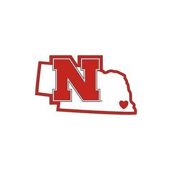 NCAA Nebraska Cornhuskers Home State Auto Car Window Vinyl Decal Sticker