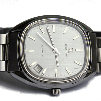 Vintage Mens Swiss Wrist Watch Zenith Surf Automatic Date Cal 2572 PC 1960s