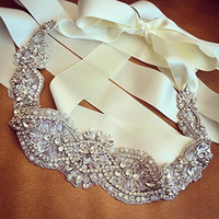 New Fashion Elegant Rhinestone Crystal Wedding Party Bride Bridesmaid Belt Dress Flower Sash Accessories 9 Colors #91301