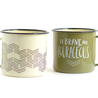 Campfire Mugs Brave and Courageous