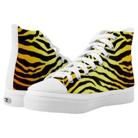 Tiger Stripes High-Top Sneakers