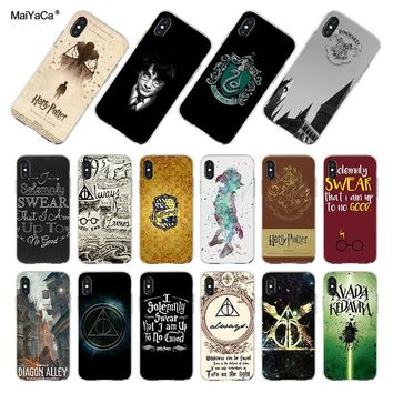 MaiYaCa Harry potter Classic image paintings cover mobile phone Case for iPhone 8 7 6 6S Plus X XS MAX XR 10 5S SE 5C case Coque