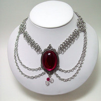 Choker, chainmaille, necklace, ladies necklace.