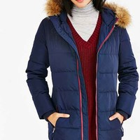 Levi's Long Hooded Puffer Coat