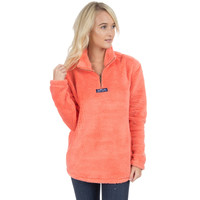 Linden Sherpa Pullover in Coral by Lauren James