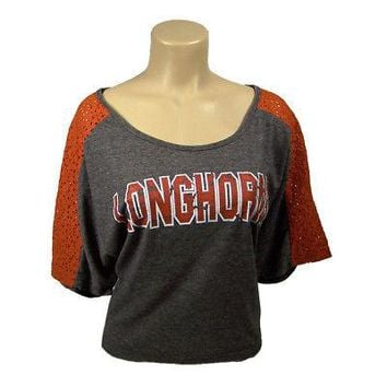 Licensed Texas Longhorns Light Lace Raglan Shirt by Champions on Display Sz M KO_19_1