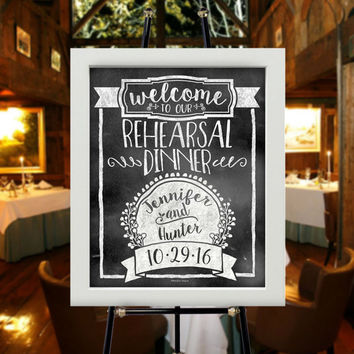 "16""x20"" Welcome to our Engagement Party 