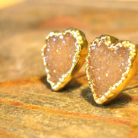 Recycled Gold Hearts // Druzy // Vintage Research