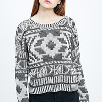 Staring at Stars Intarsia Jumper in Mono - Urban Outfitters