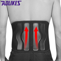 AOLIKES Waist Fitness Belt For Back Pain Lumbar disc Herniation Injury Muscle Strain Support Weightlifting Belts Sports Safety