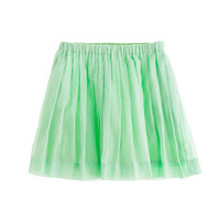 Cafe Mint Girls' pull-on pleated skirt - solids - Girl's skirts - J.Crew