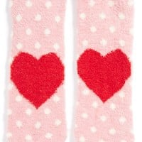 Junior Women's BP. 'Heart - Butter' Slipper Socks