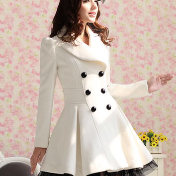 Princess Lolita Cute Sweet Gothic Nana PUNK Kera Long Lace White Jacket Coat