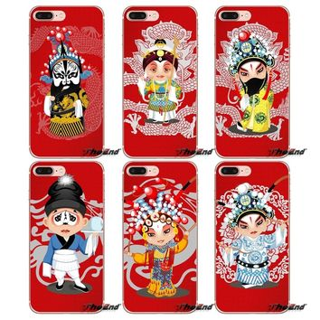 Phone Cases Vector Wallpaper Beijing opera For Sony Xperia Z Z1 Z2 Z3 Z5 compact M2 M4 M5 E3 T3 XA Aqua LG G4 G5 G3 G2 Mini Capa