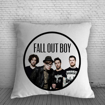 Fall Out Boy Rock Band for Square Pillow Case 16x16 Two Sides, 18x18 Two Sides, 20x20 Two Sides
