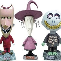 NECA Tim Burton's The Nightmare Before Christmas Exclusive Lock, Shock & Barrel Full Size Headknockers Set