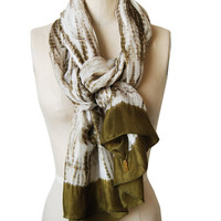 Handmade Organic and Naturally Dyed Scarves- Python Hunter Green