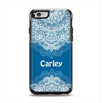 The Intricate Blue & White Snowflake Name Script Apple iPhone 6 Otterbox Symmetry Case Skin Set
