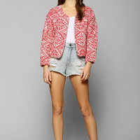 Line & Dot Ikat Quilted Jacket - Urban Outfitters
