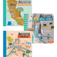 BabyLit All Aboard New York, California & Paris Board Book Set   zulily
