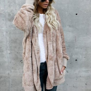 Fashion Hooded Long Batwing Sleeve Casual Cardigan Open Front Coat Outwear