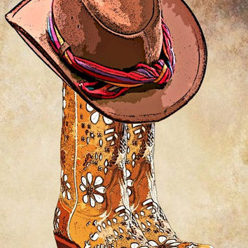 cowboy boots cowboy hat png clip art digital clipart download printable graphics western country fashion