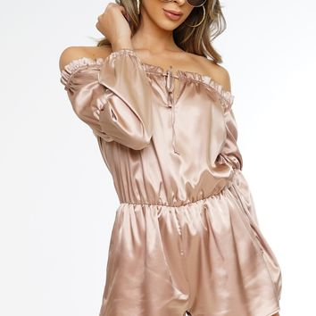 Lizzy Romper - Taupe