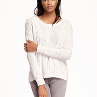 Hi-Lo Cable-Knit Sweater for Women | Old Navy