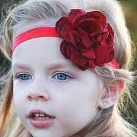 Red Rose Headband - Kids