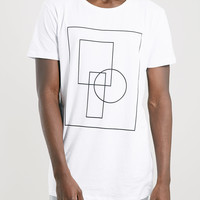 Selected Homme Long Line White T-Shirt