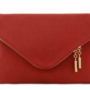Red Large Envelope Clutch