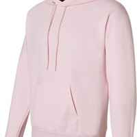 Hanes Men's Fleece Full Cut Hood Pullover Hoodie, PALE PINK, X-Large