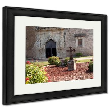 Framed Print, San Antonio Mission San Juan In Texas