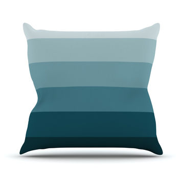 "Trebam ""Cijan"" Navy Teal Throw Pillow"