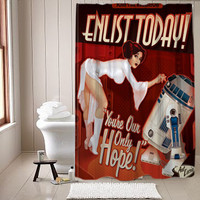 Awesome Vintage Style Starwars shower curtain