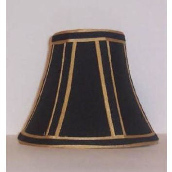 91135 - Black Dramatic Gold Candelabra Clip On Lamp Shades