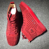 PEAPNW6 Cl Christian Louboutin Louis Spikes Style #1830 Sneakers Fashion Shoes