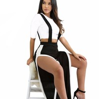 Agrippina double slit jumpsuit