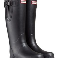 HUNTER TALL BALMORAL NEOPRENE BLACK ADJUSTABLE WELLINGTON BOOTS WIDE CALVES NIB