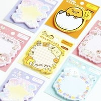 30 Sheets /Pack Kawaii Melody Gudetama Sticky Notes Memo Pads School Office Supply Stationery Notepads
